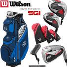 Wilson SGI Prostaff Golfset Heren Graphite & Exo Cart Bag blauw