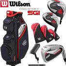 Wilson SGI Prostaff Golfset Heren Staal & Exo Cart Bag Zwart/Wit/Rood