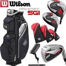 Wilson SGI Prostaff Golfset Heren Staal & Exo Cart Bag Zwart/Wit/Grijs