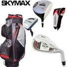 Skymax IX-5 Complete Golfset Heren Staal met Cartbag Zwart/Rood