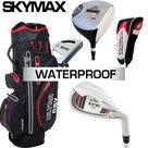 Skymax IX-5 Complete Golfset Heren Graphite met Fastfold Waterproof Ultra Cartbag Zwart/Grijs