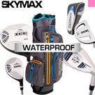 Skymax IX-5 Complete Golfset Dames Graphite met Fastfold Waterproof Ultra Cartbag Antraciet/Geel/Lichtblauw