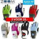 Zoom One Size Fits All golfhandschoen Zwart/Wit