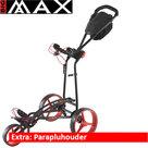 Big Max Autofold FF Golftrolley, Zwart/Rood