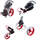 Big Max IQ+ Golftrolley, Wit/Rood