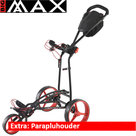 Big Max Autofold FF Golftrolley, Zwart/Rood