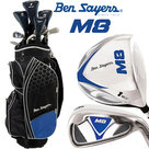 Ben Sayers M8 Complete Golfset Heren Graphite met Cartbag Zwart/Blauw