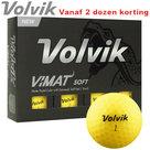 Volvik Vimat Soft Golfballen Geel 12 stuks