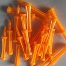 Pure4Golf Plastic Step Tees 69mm oranje