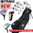 Skymax IX-5 XL Halve Golfset Heren Graphite met Standbag Zwart