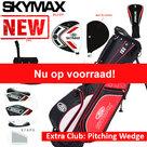 Skymax S1 XL Halve Golfset Heren Graphite met Standbag Zwart Rood