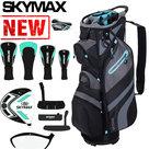 Skymax S1 Complete Golfset Dames Graphite met Cartbag Zwart/Blauw