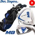 Ben Sayers M8 Complete Golfset Heren Staal met Standbag Zwart/Blauw