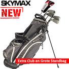 Skymax Ice IX-5 Halve Golfset Heren Graphite met Grote Skymax Standbag Grijs