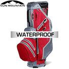 Sun Mountain USA H2NO Lite Waterproof 14-Vaks Cartbag, rood/grijs
