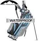 Sun Mountain USA H2NO Lite Waterproof 14-Vaks Standbag, grijs/lichtblauw