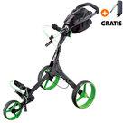 Big Max IQ+ Golftrolley, Zwart/Lime