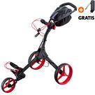 Big Max IQ+ Golftrolley, Zwart/Rood