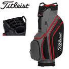Titleist Lightweight Cartbag Golftas, zwart/grijs/rood