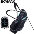 Skymax LW Standbag Golftas, zwart/lichtblauw