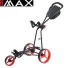 Big Max Autofold X Golftrolley, mat zwart/rood