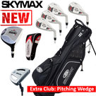 Skymax IX-5 XL Halve Golfset Heren Staal met Standbag Zwart