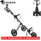 Cougar Trek Golftrolley, zwart