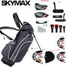 Skymax S1 Complete Golfset Heren Staal met Standbag Grijs