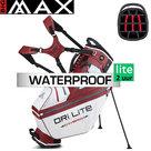 Big Max DriLite Hybrid Tour Standbag Golftas, wit/bordeauxrood