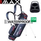 Big Max DriLite Seven 2.0 Waterproof Standbag Golftas, zwart/rood