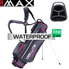 Big Max DriLite Seven 2.0 Waterproof Standbag Golftas, antraciet/fuchsia