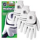 Footjoy Weathersof Golfhandschoen Wit (3 Stuks)