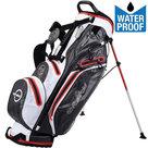 Fastfold Waterproof Standbag Golftas, Grijs/Wit/Rood