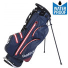 Fastfold 9 Inch Waterproof Standbag Golftas, Navy/Rood
