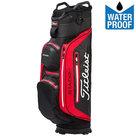 Titleist Stadry Deluxe Waterproof Cartbag Golftas, Zwart/Rood/Wit