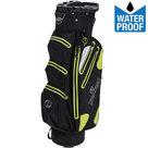 Spalding Zero Contact Waterproof Cartbag Golftas, Zwart/Lime