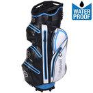 Fastfold WP360 Waterproof Cartbag Golftas, Zwart/Wit/Blauw