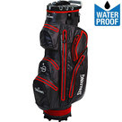 Spalding Zero Contact 2.0 Waterproof Cartbag Golftas, Zwart/Rood
