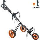 Cougar Track Golftrolley, Zwart/Oranje