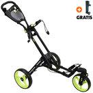 Fastfold 360 Golftrolley, Mat Zwart/Neon Groen