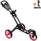 Fastfold 360 Golftrolley, Mat Zwart/Neon Roze