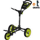 Fastfold Flat Golftrolley, Zwart/Neon Geel