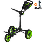 Fastfold Flat Golftrolley, Zwart/Lime