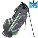 Fastfold 9 Inch Waterproof Standbag Golftas, Grijs/Lime