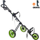 Cougar Track Golftrolley, Zwart/Lime