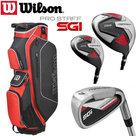 Wilson SGI Prostaff Deluxe Complete Golfset Heren Graphite & Prostaff Cartbag Rood NEW 2019