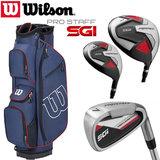 Wilson SGI Prostaff Deluxe Complete Golfset Heren Graphite & Prostaff Cartbag