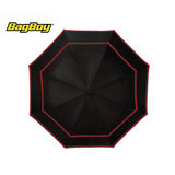 Bagboy Telescopic Umbrella Zwart/Rood