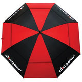 Clicgear Double Canopy Golfparaplu Zwart/Rood