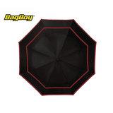 Bagboy Telescopic Umbrella Zwart/Rood